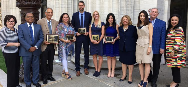 Teacher of the Year 2018 and Finalists in Front of New York State Education Department Building