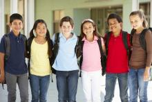 Group of students standing together