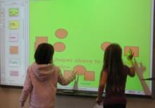 students at smartboard